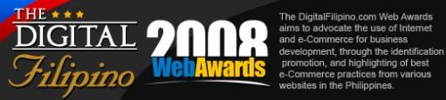 Banner of the 2008 Digital Filipino Web Awards